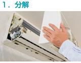 家庭用エアコンの洗浄の画像